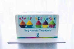 444 - Corporate Rainbow Cake