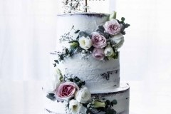 15. Betty Three Tier with Fresh Florals
