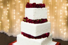 18. Four Tier with Red Roses