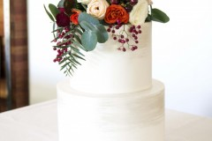 22. Two Tier Handpanted with Fresh Florals