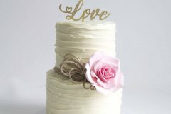 11. Buttercream Ruffle with Handmade Rose
